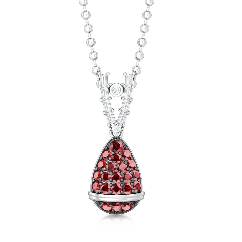 Drop Red Gorgeous Diamond Pendants