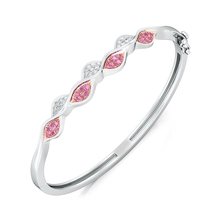 Crimped Rim Diamond Bangles