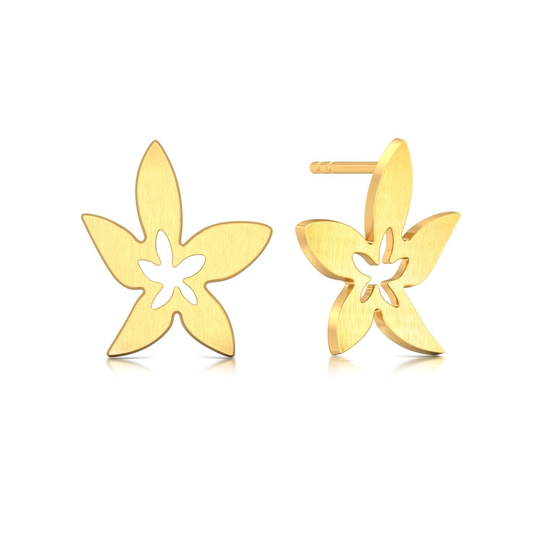 Golden Starflower Gold Earrings
