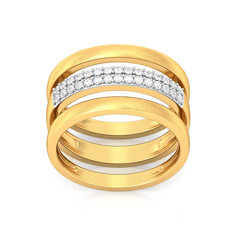Boho Dreamcatcher Diamond Rings