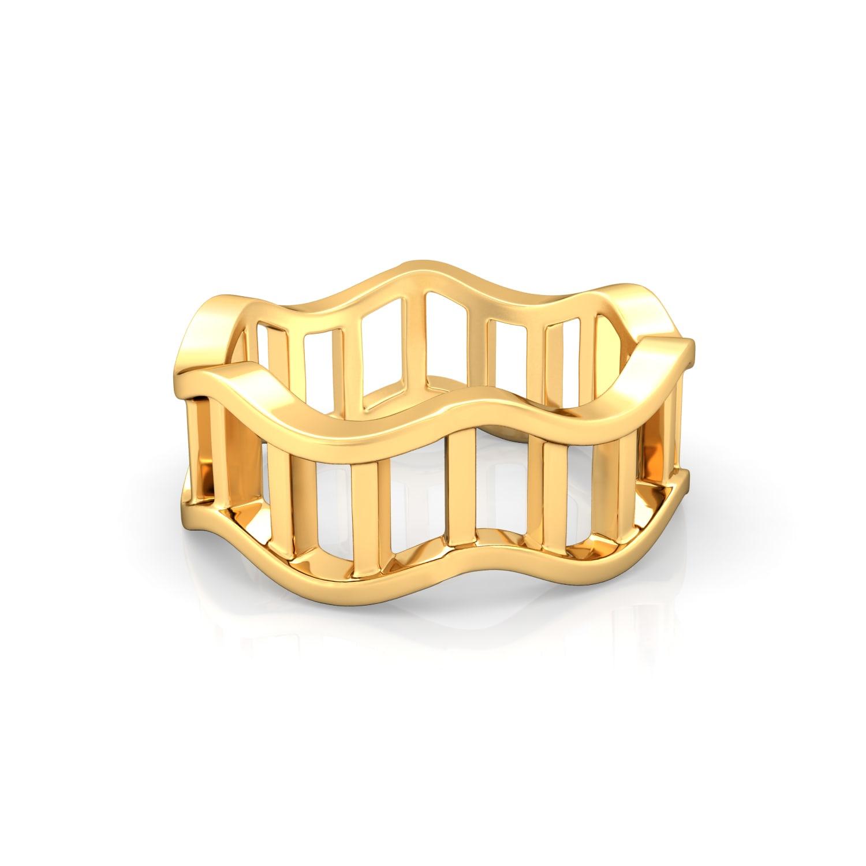 Ripple Effect Gold Rings