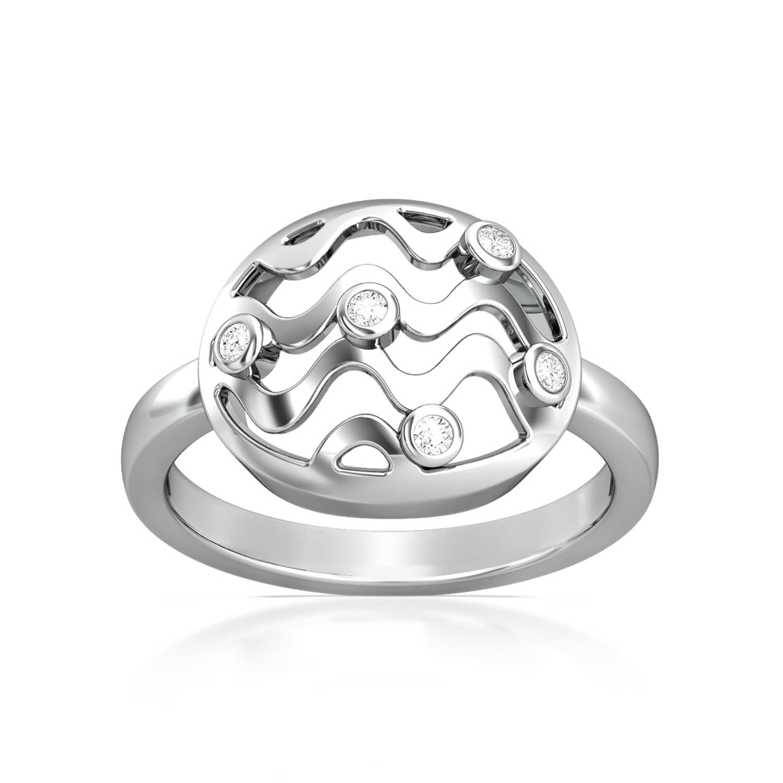 Vasarely Lines Diamond Rings