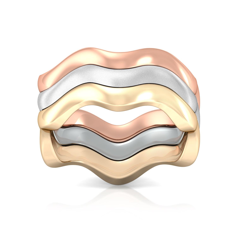 Desert Dunes  Gold Rings