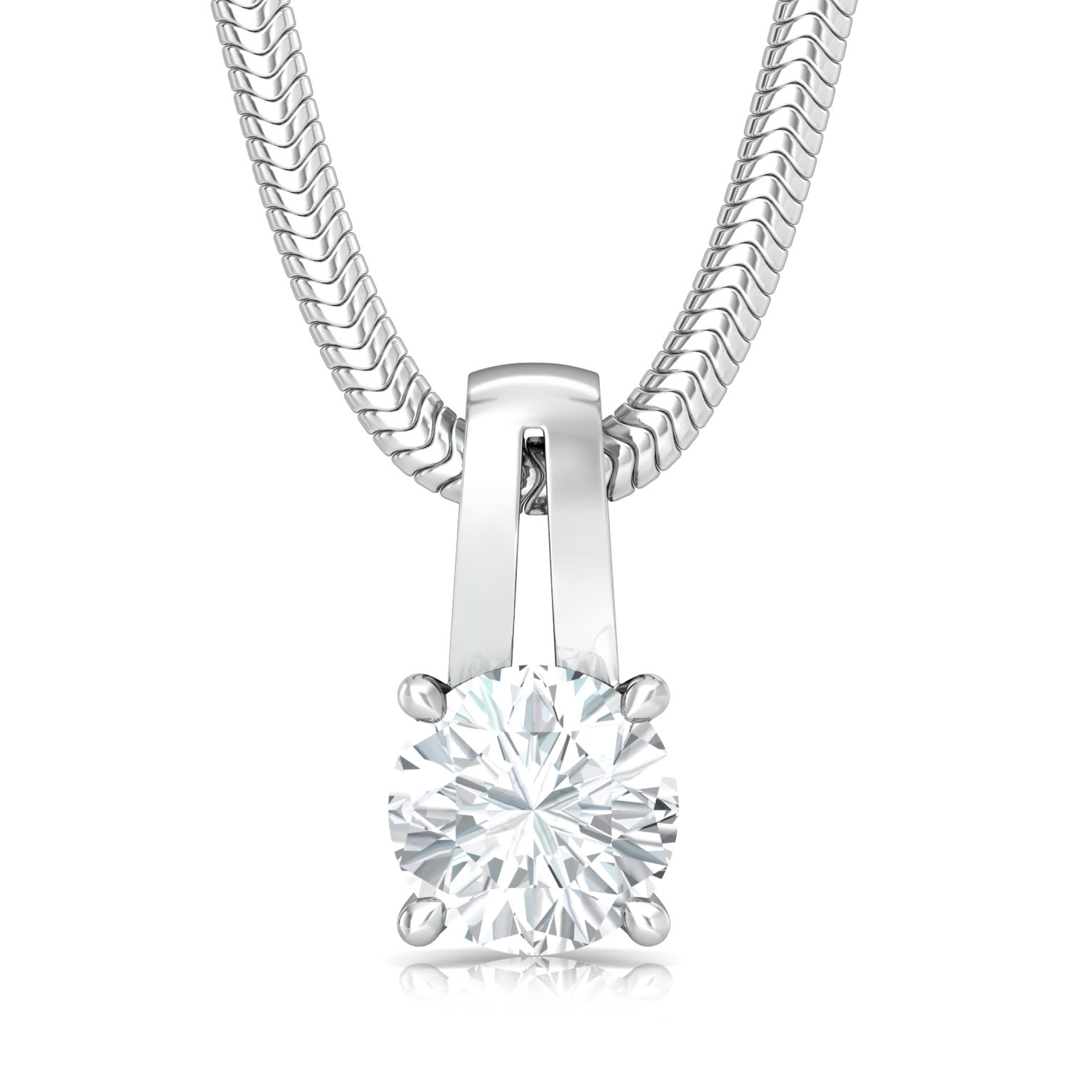 Sassy Solitaire Diamond Pendants
