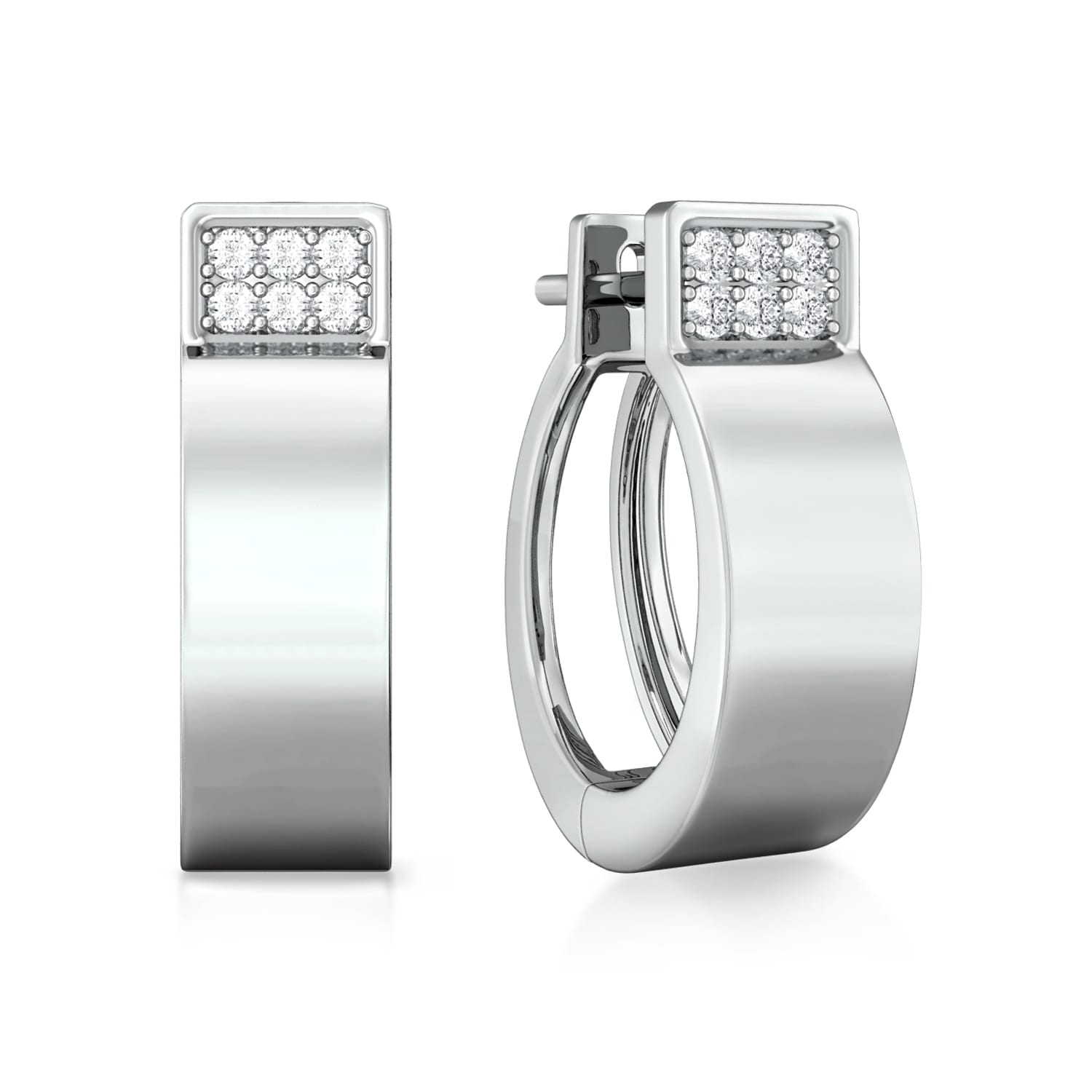 White collar Diamond Earrings