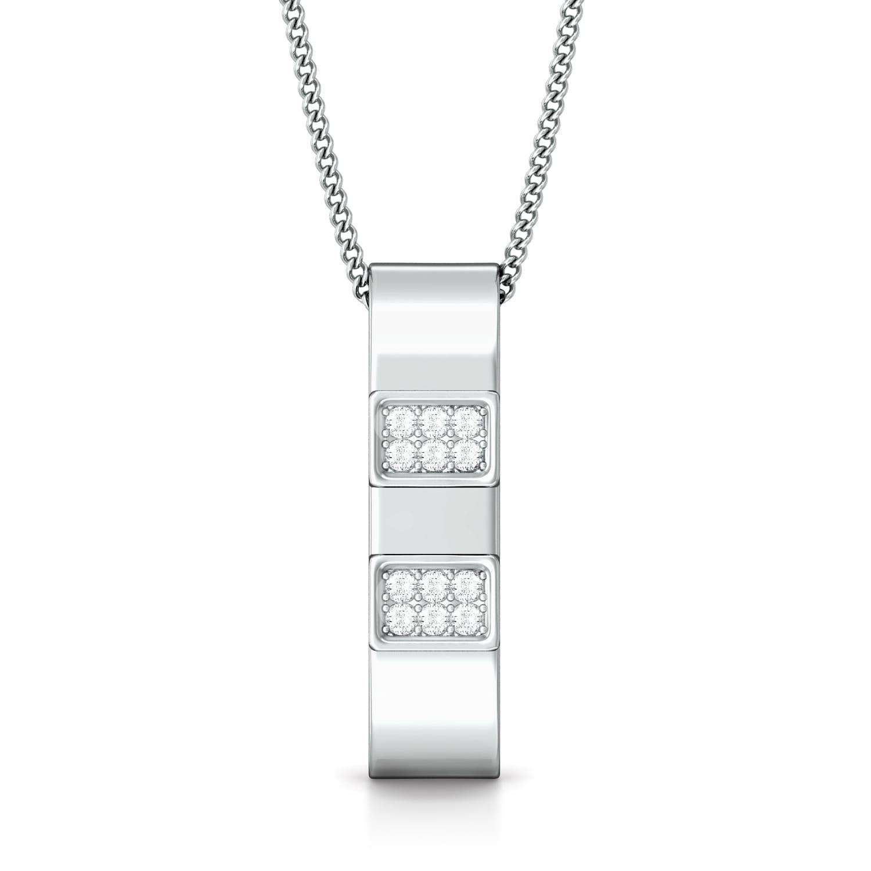 White collar Diamond Pendants