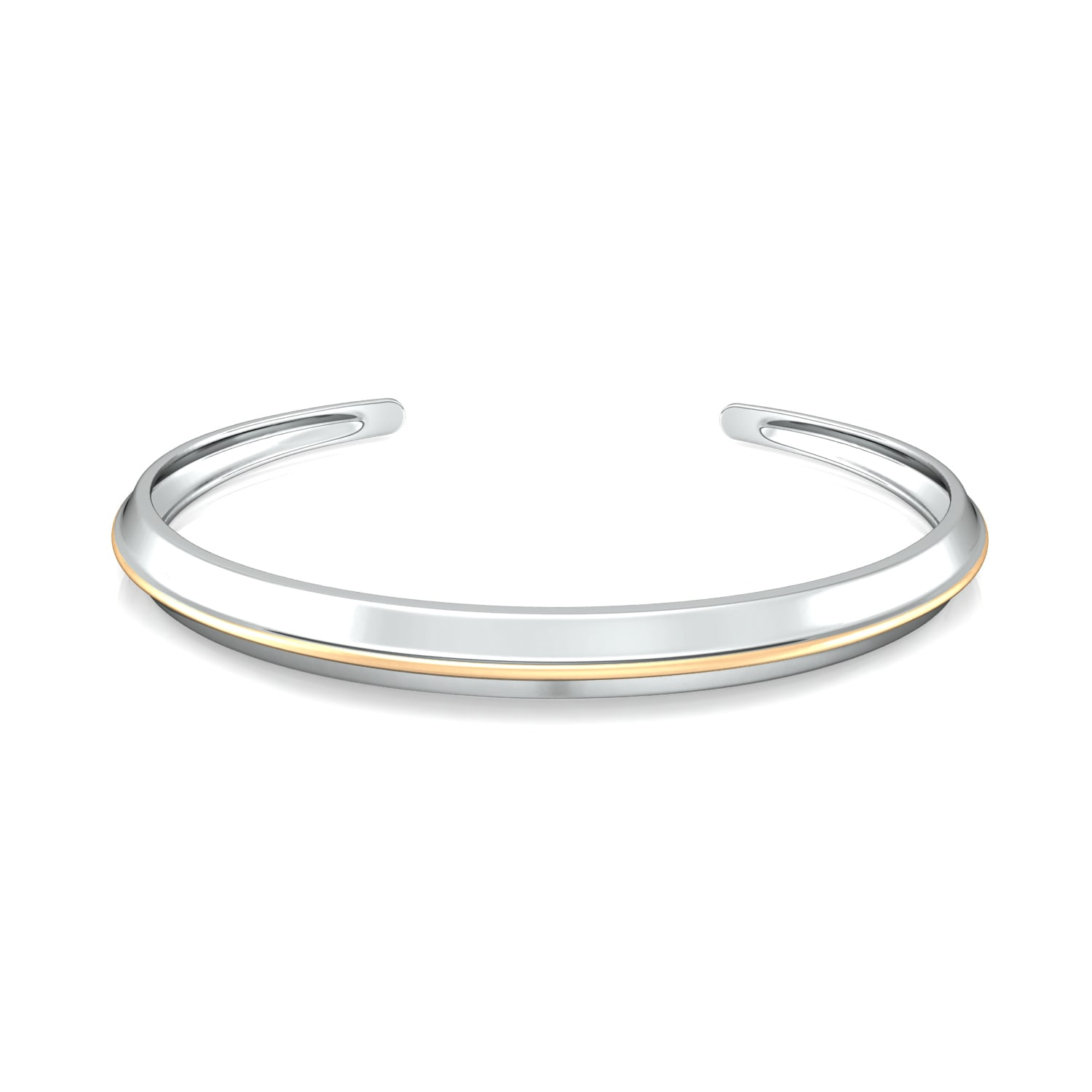 Knife edge  Gold Bangles