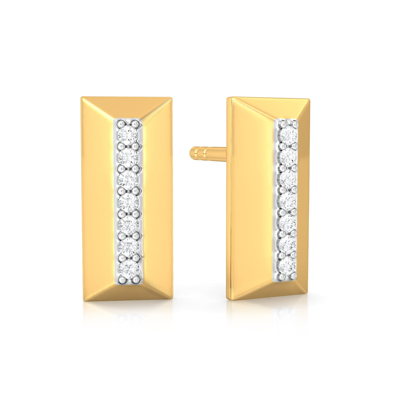 Raising the bar Diamond Earrings
