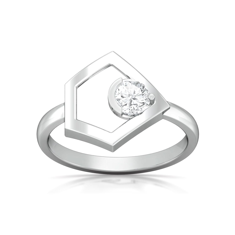 Pointy Penta Diamond Rings