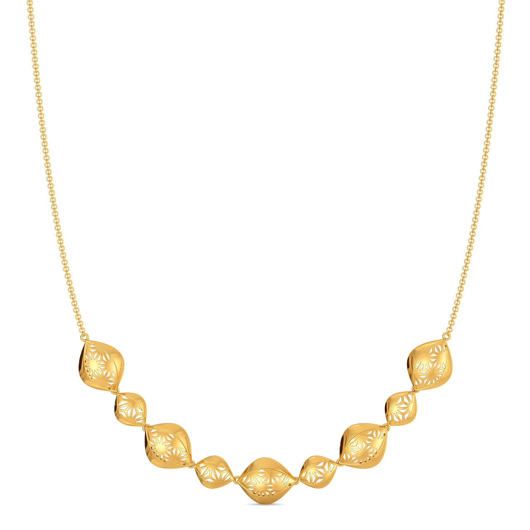 Bold Lace Gold Necklaces