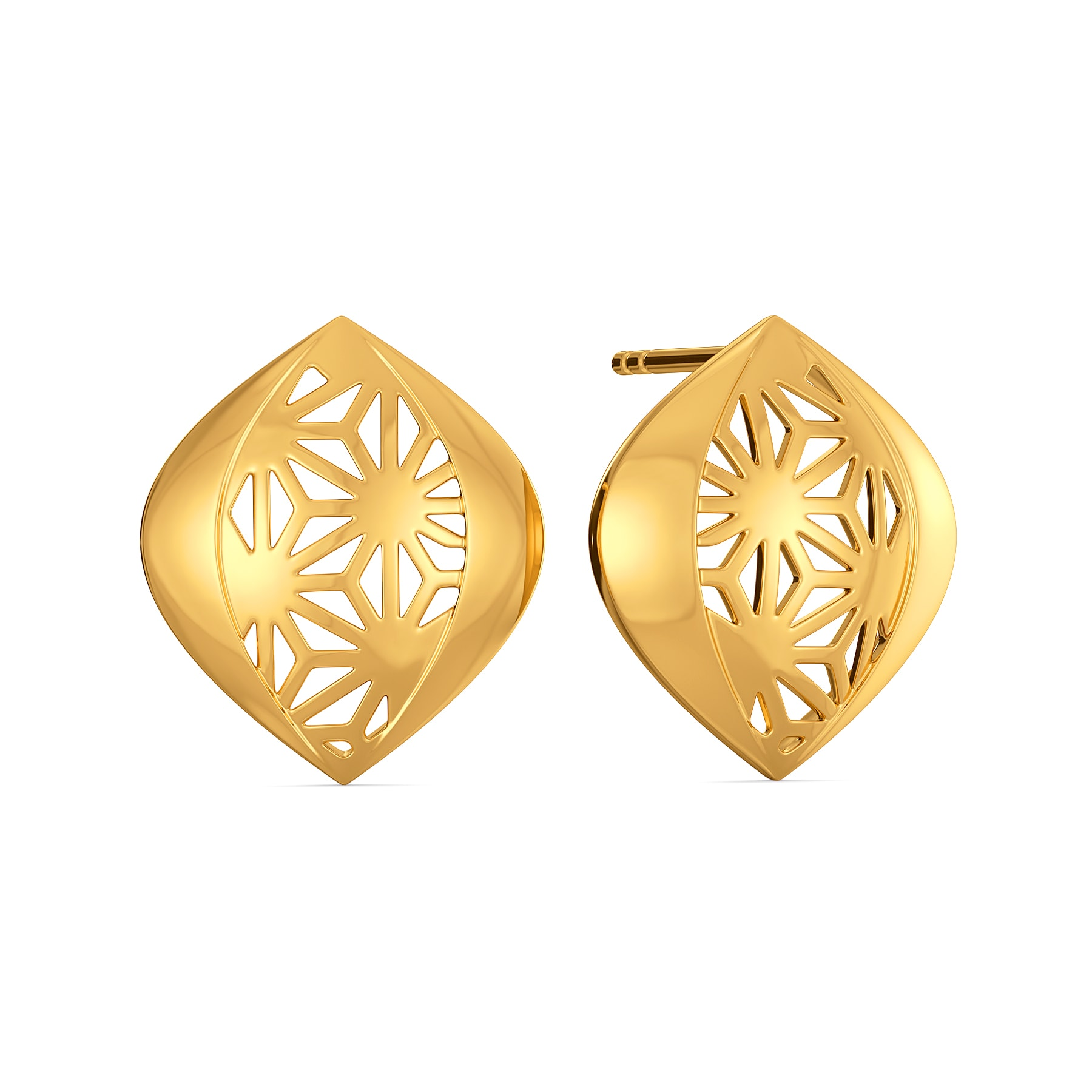 Bold Lace Gold Earrings