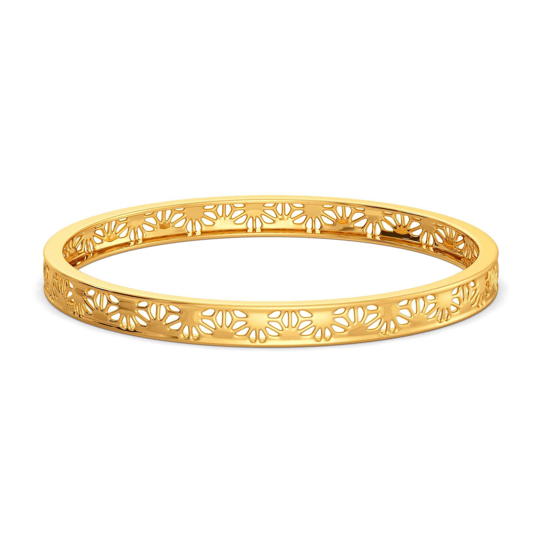 Bold Lace Gold Bangles