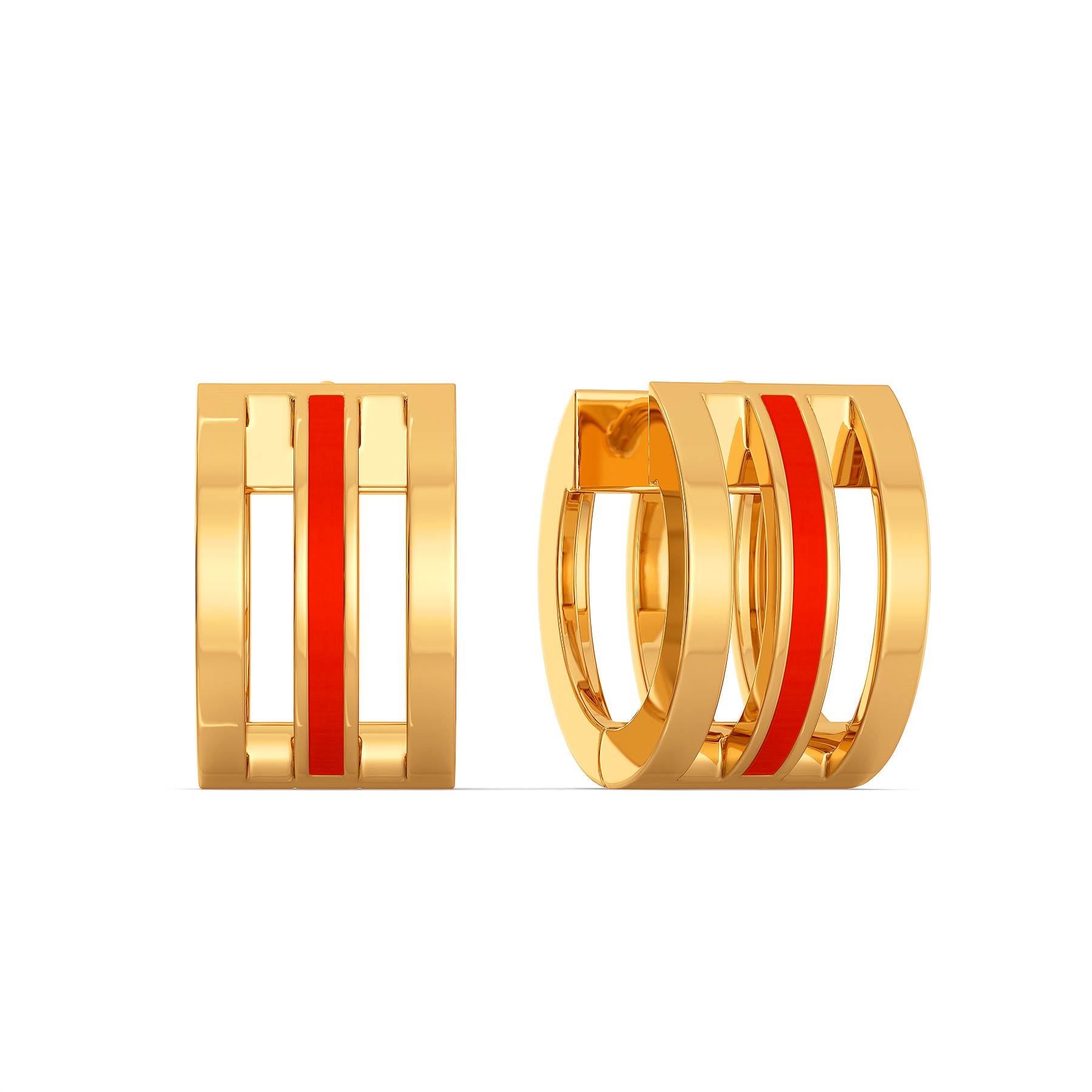 High five Gold Earrings