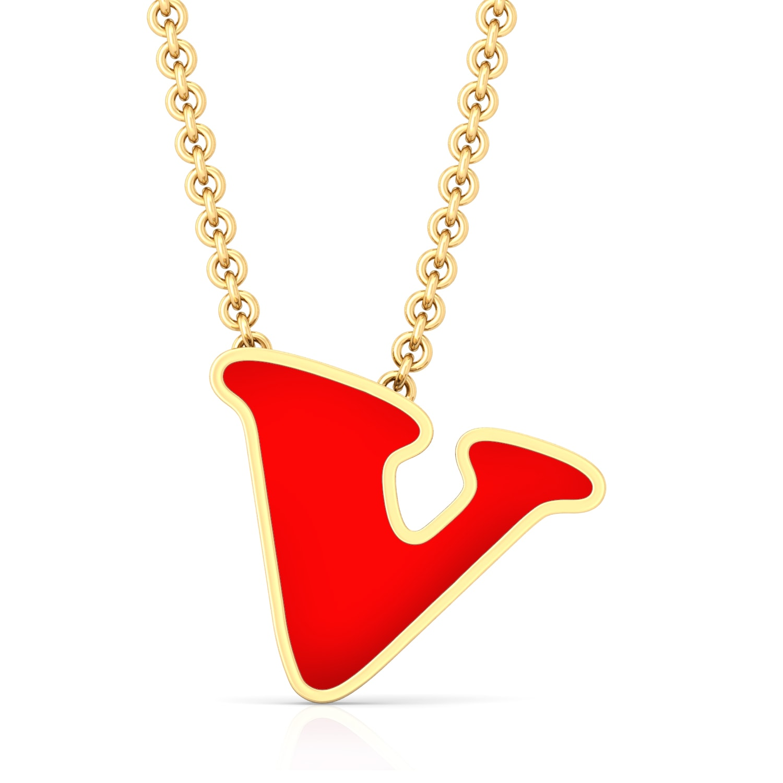 V for victory Gold Pendants