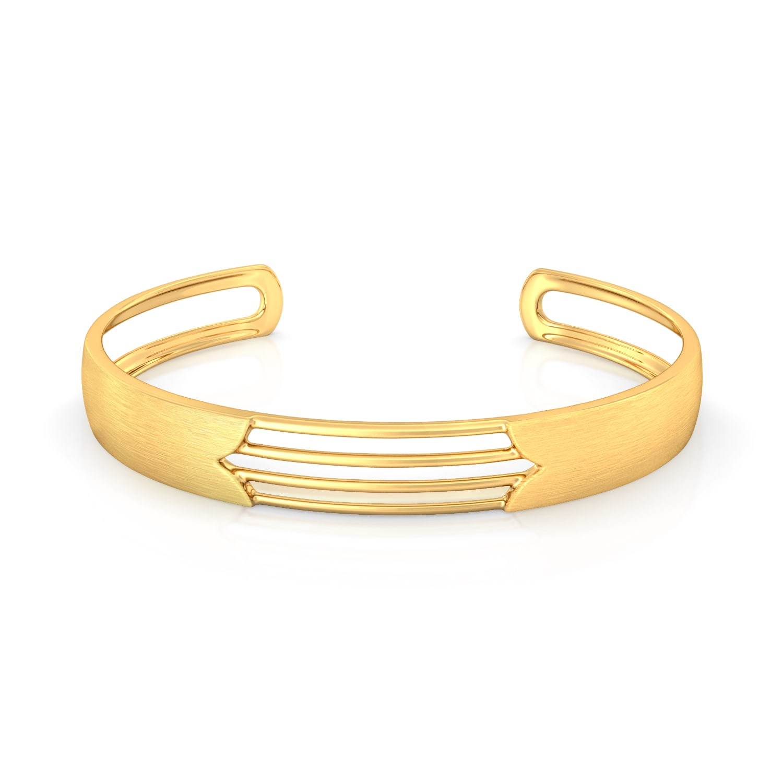 Satin Camber Gold Bangles