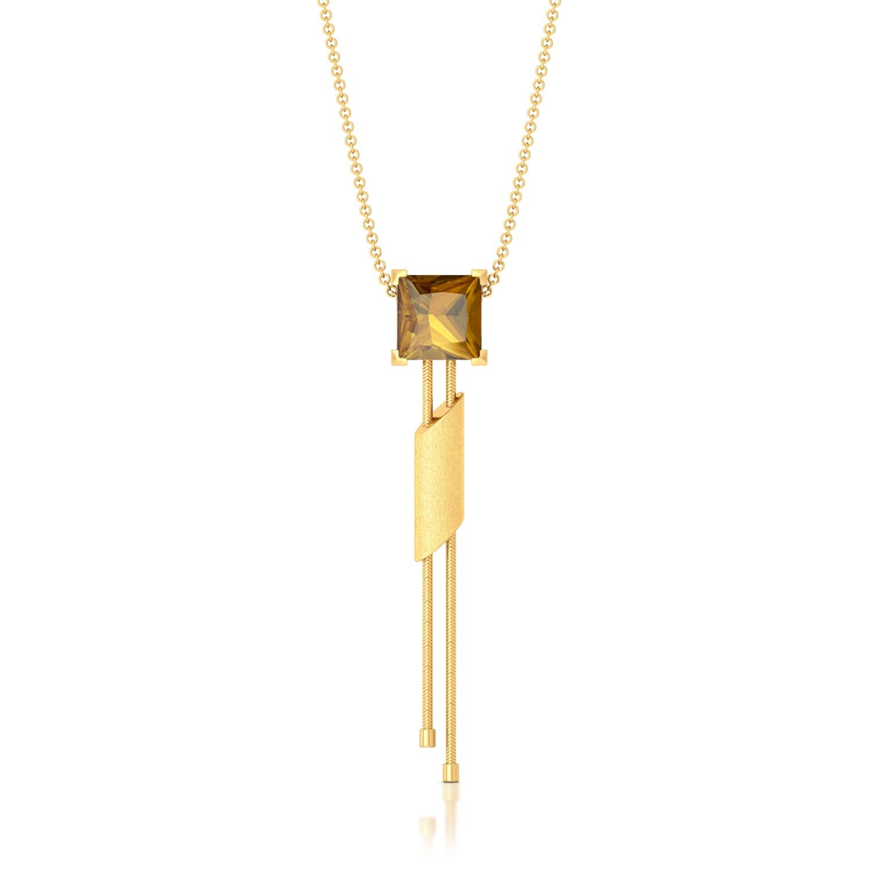 Golden Incline Gemstone Pendants