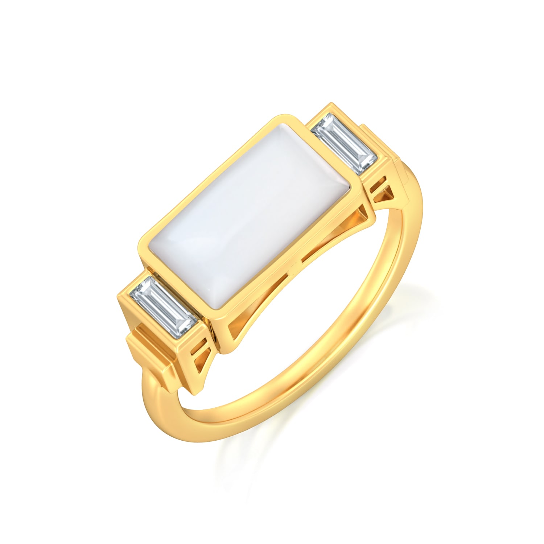 Chic White Diamond Rings