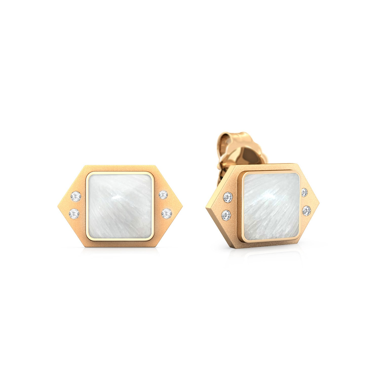 Icy White Diamond Earrings