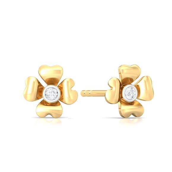 Four-petal Diamond Earrings