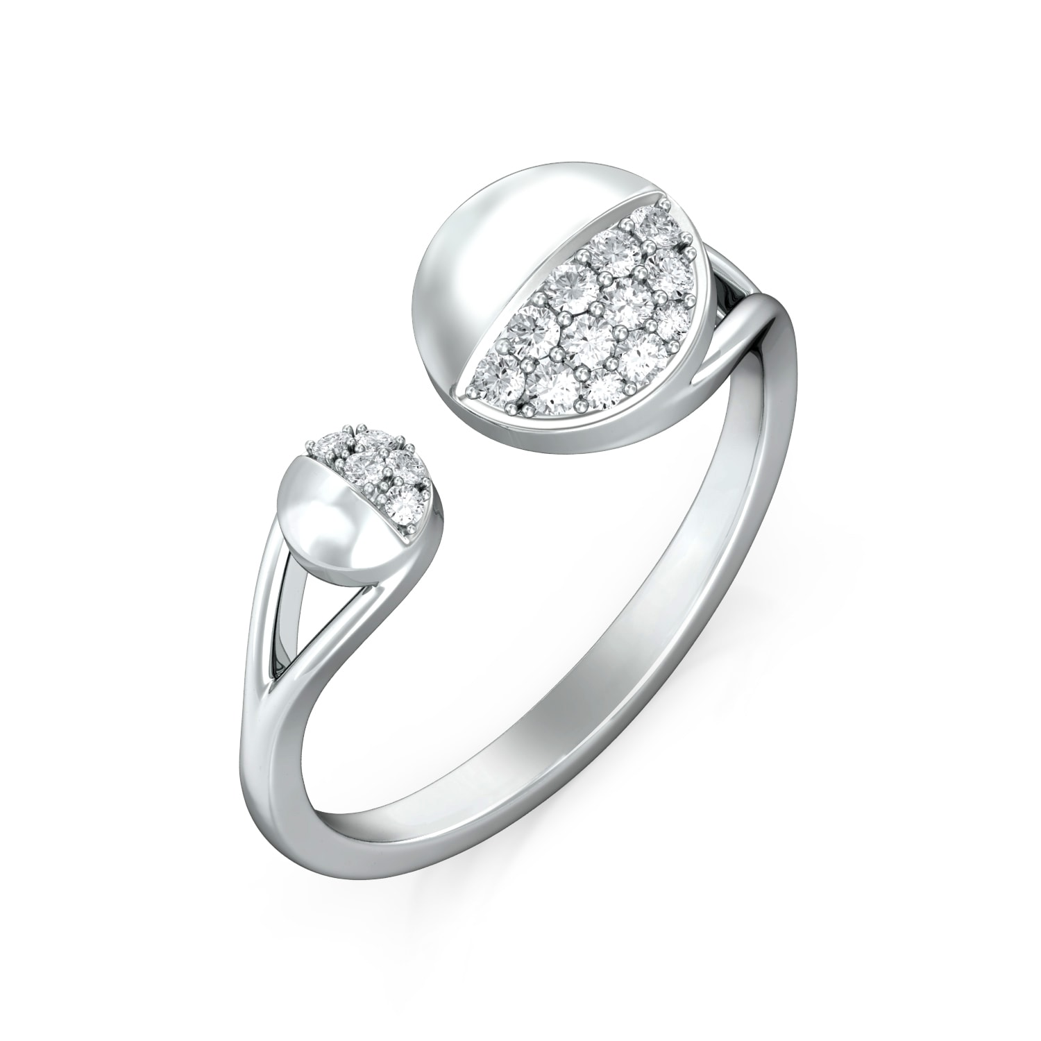 Buttoned Up Diamond Rings