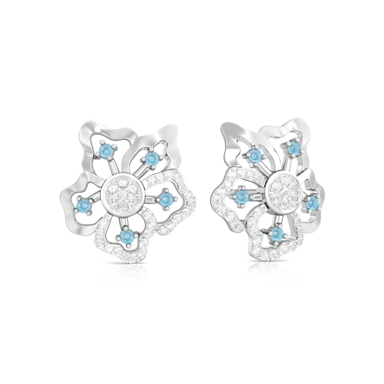 Periwinkle Blues Diamond Earrings