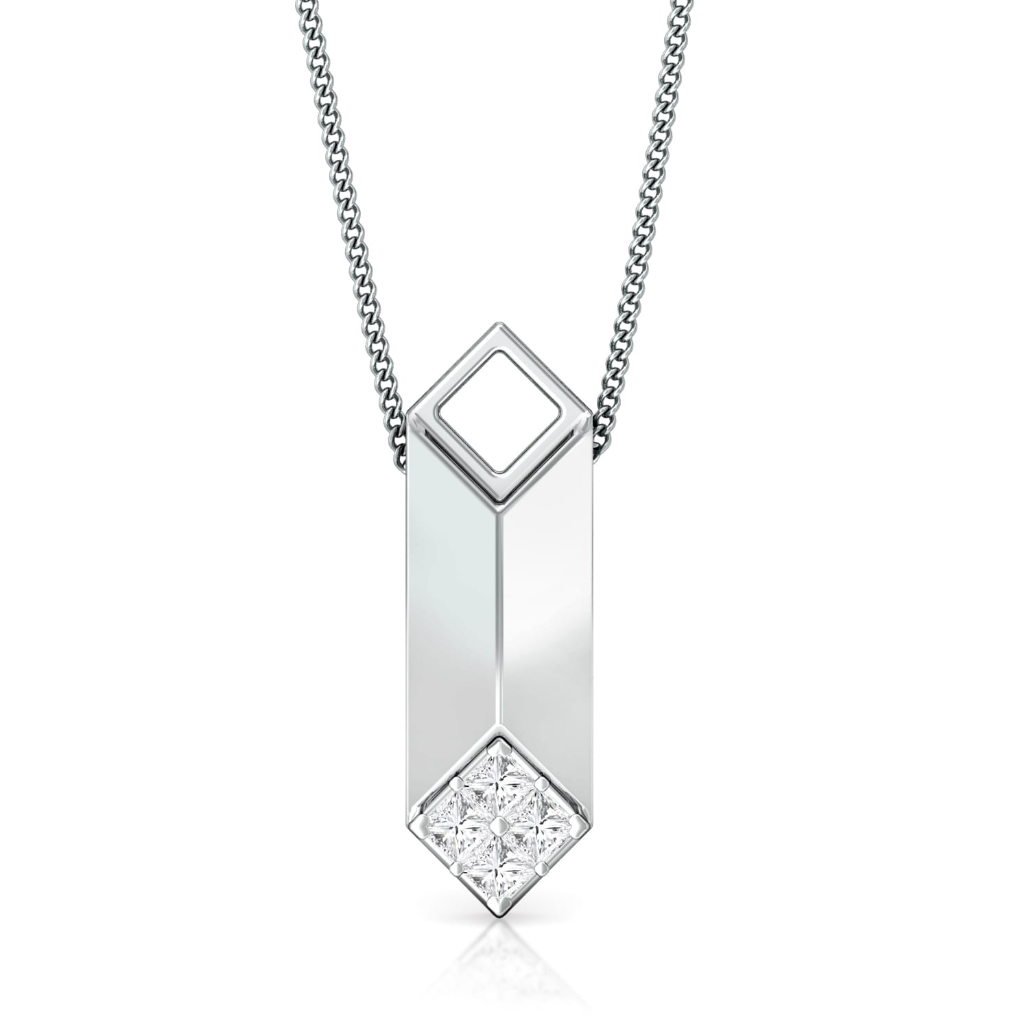 Constructive edge Diamond Pendants