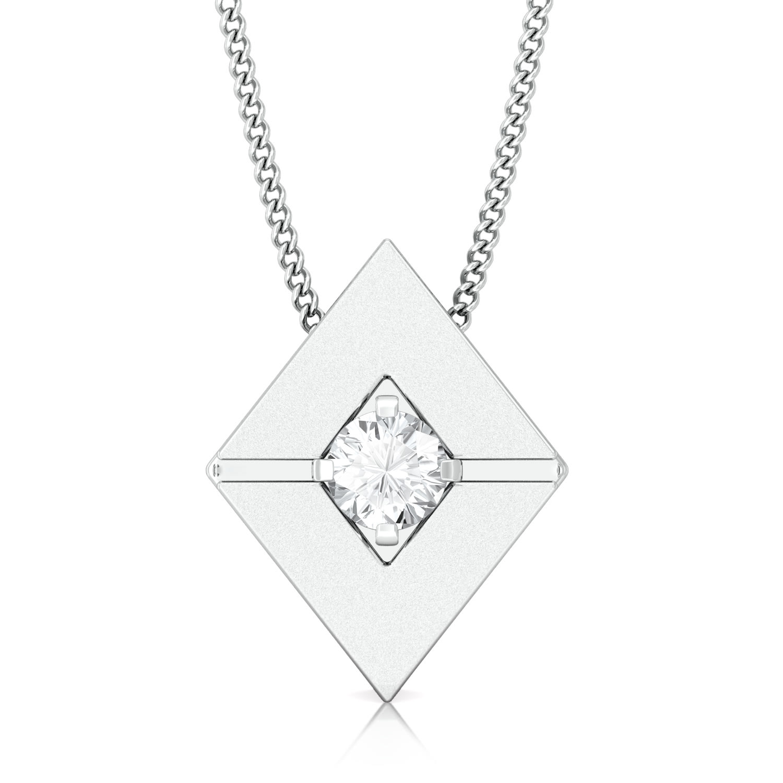 Mirror image Diamond Pendants