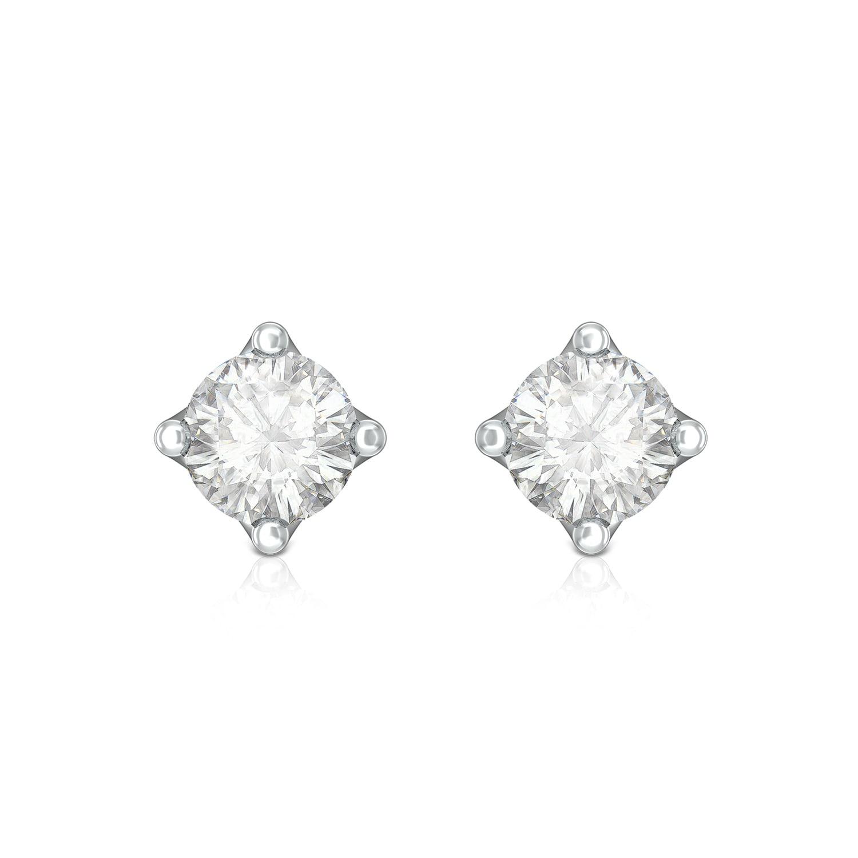 Pristine White Diamond Earrings