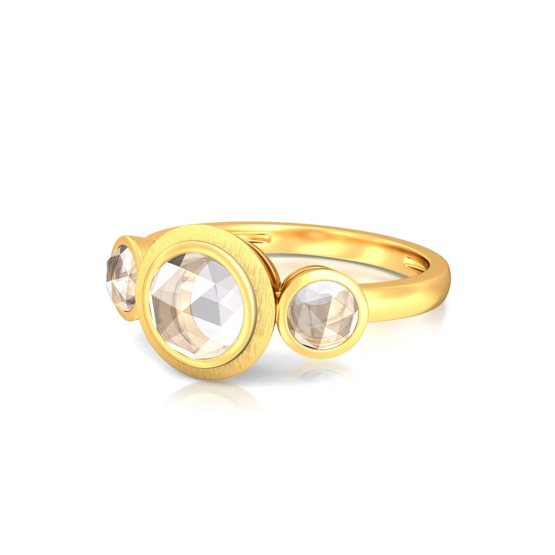 White Mist Gemstone Rings