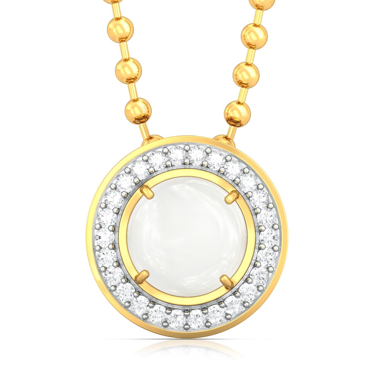 Snow Moon Diamond Pendants