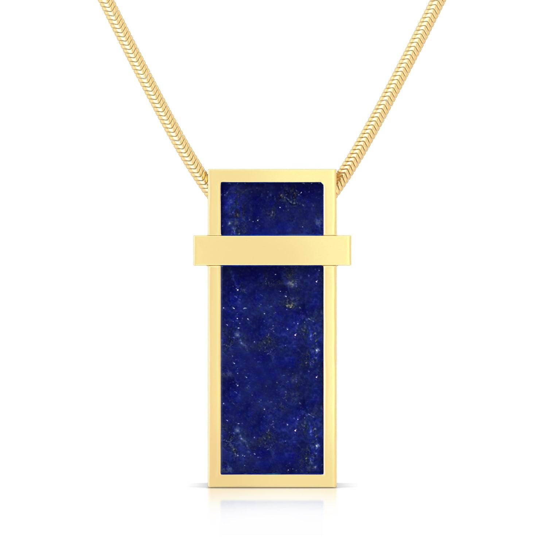 Cobalt Shots Gemstone Pendants