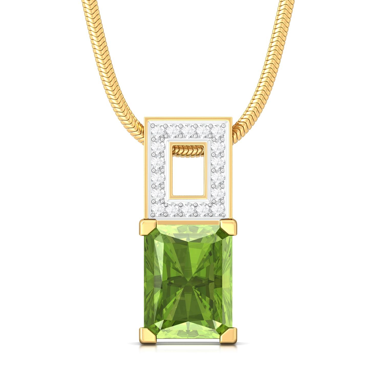 Olive Diamond Pendants