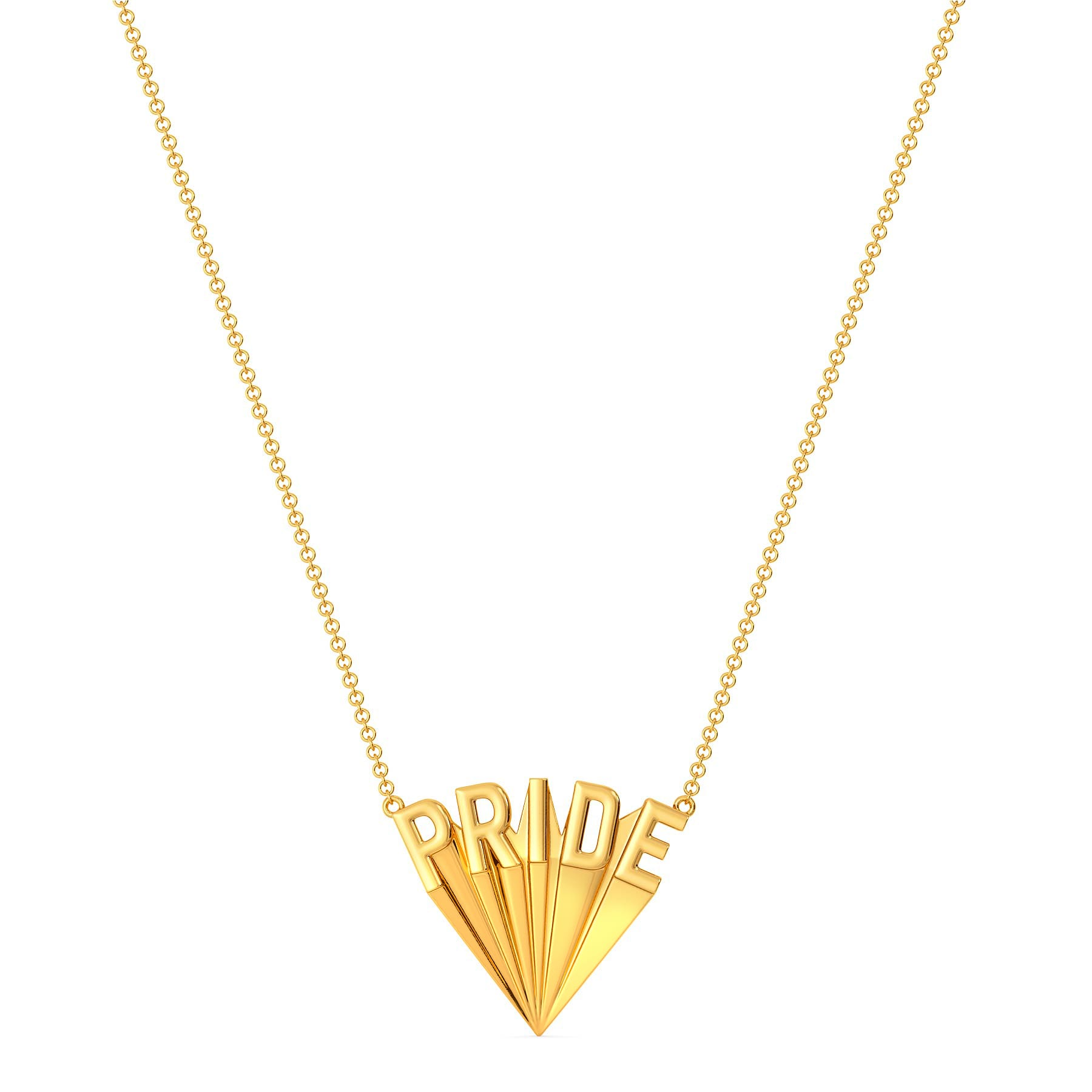 Colours Of Love Gold Necklaces