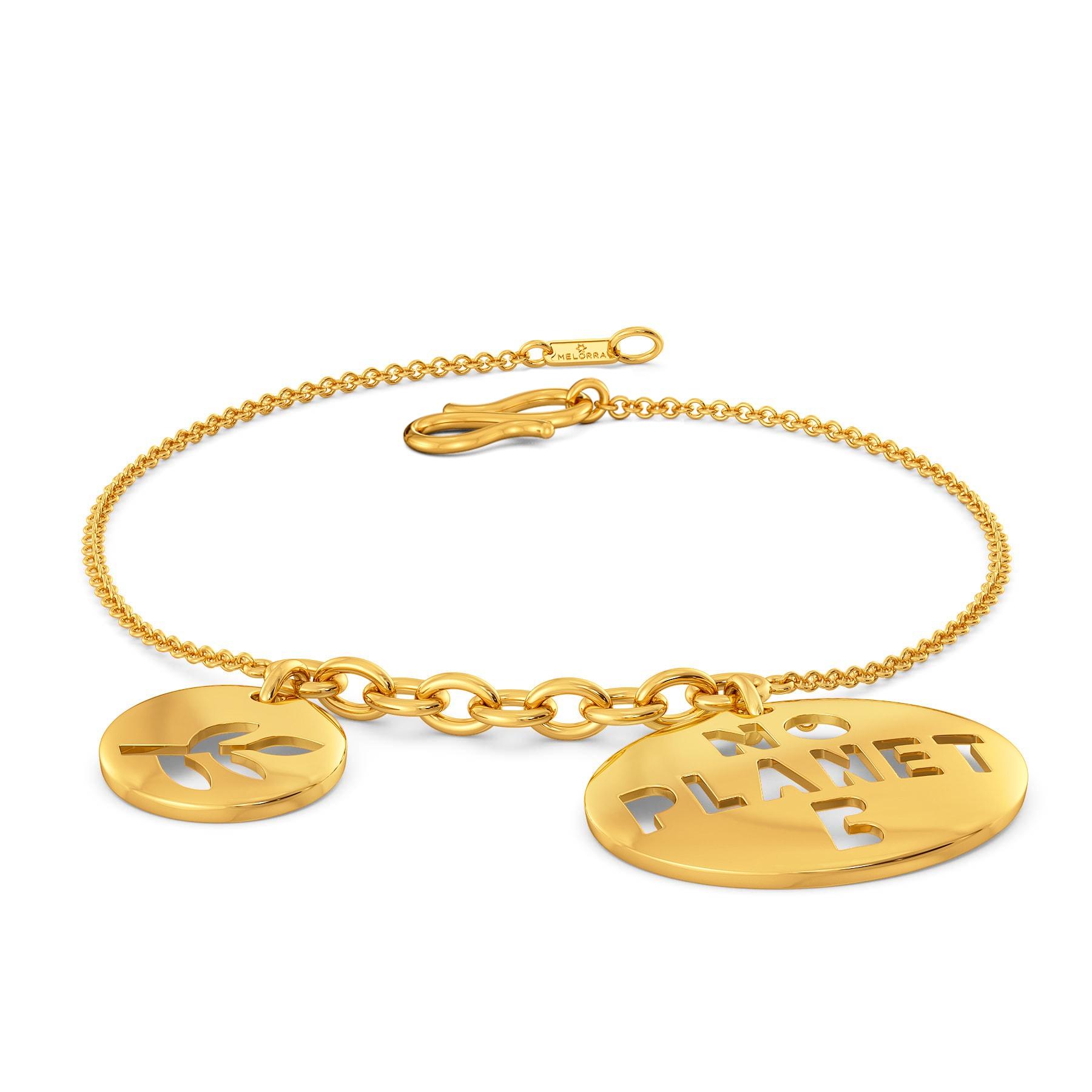 Planet A Gold Bracelets