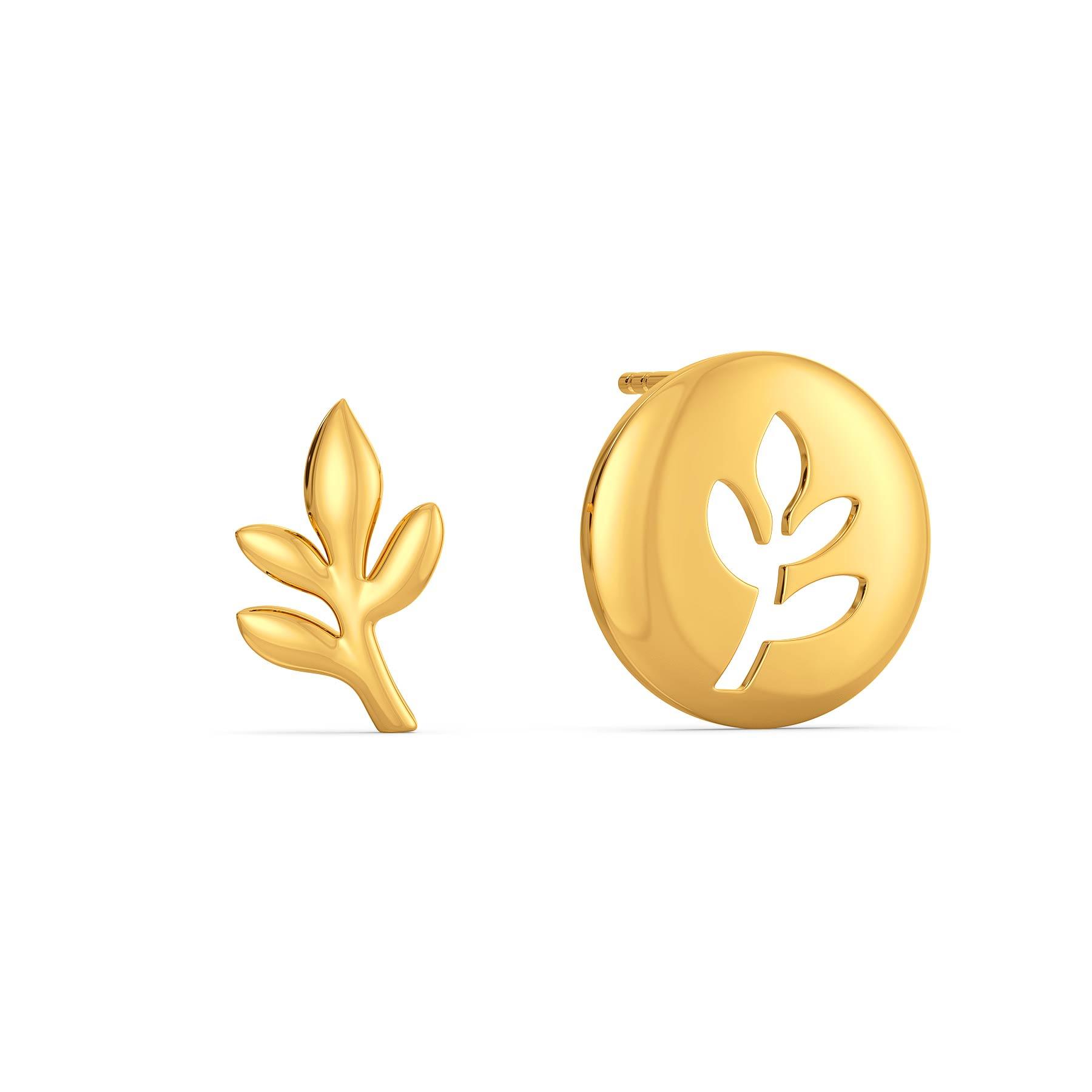 Planet A Gold Earrings