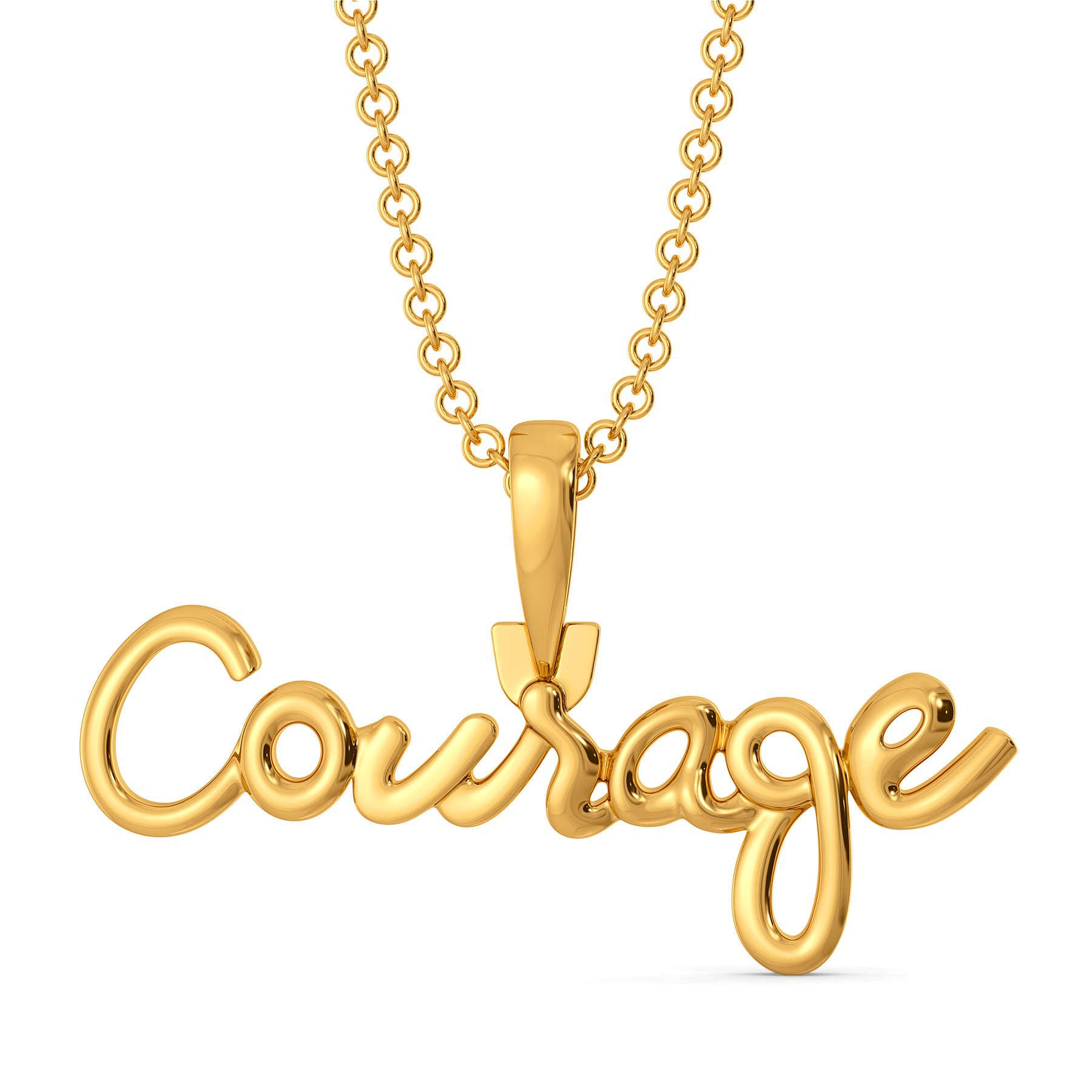 Courage, Dear Heart Gold Pendants