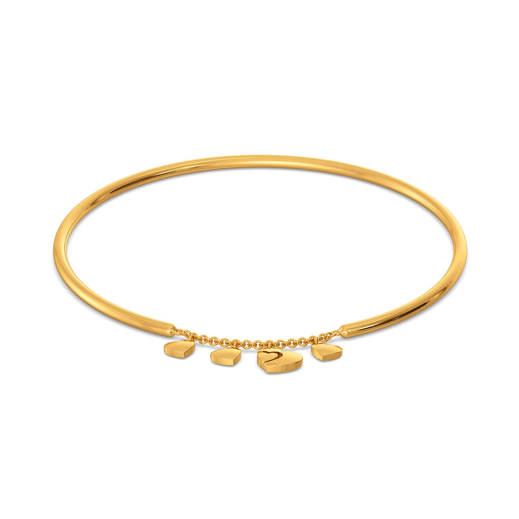 Poised Paramour Gold Bangles
