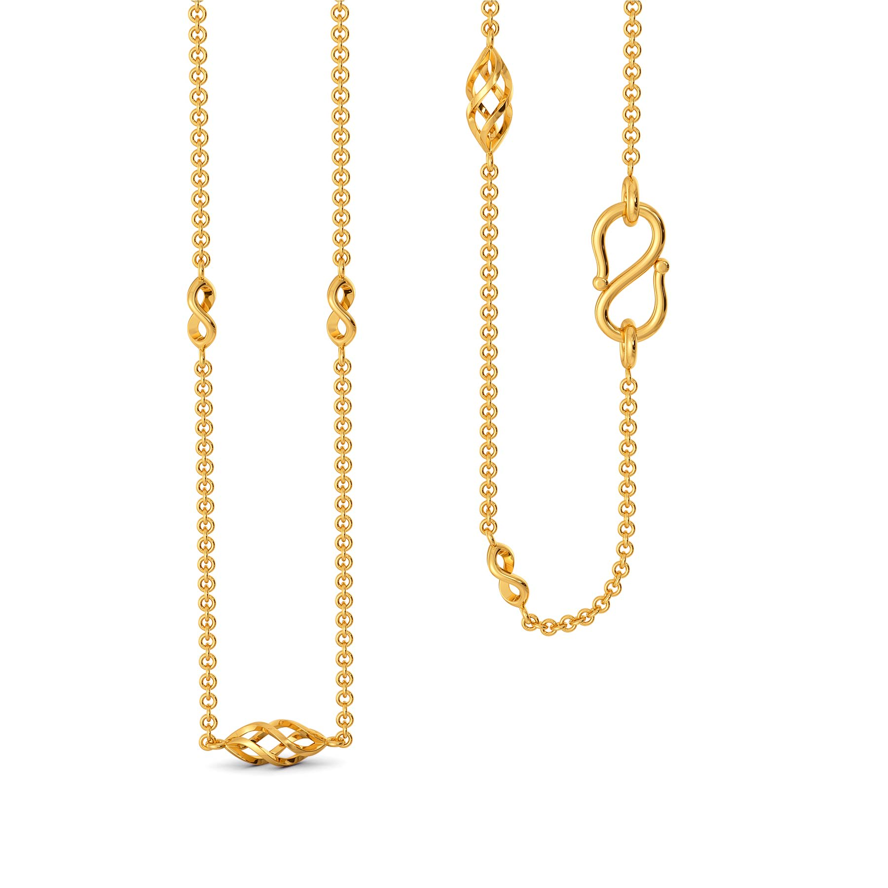 Knot A Ribbon Gold Chains