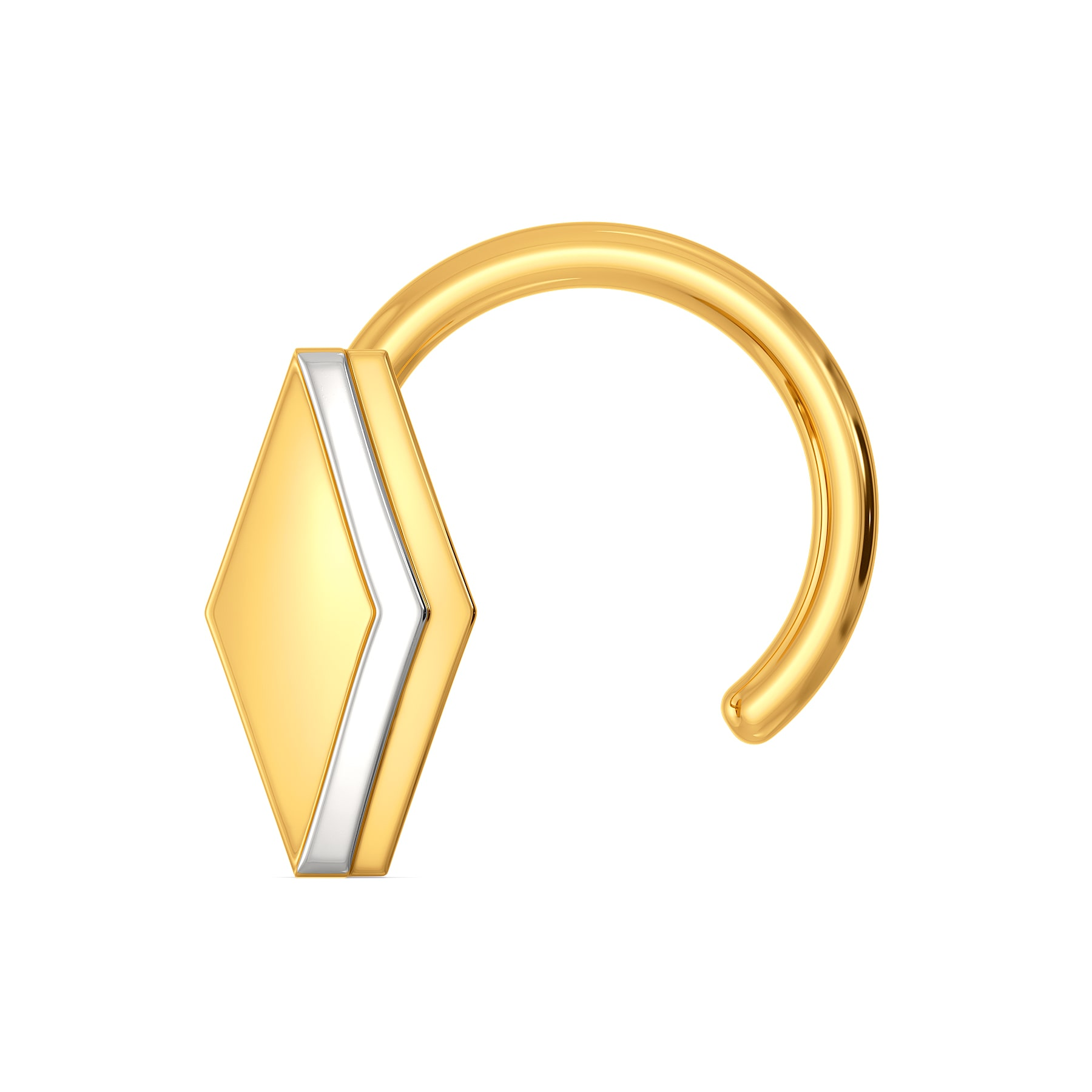 Hello Hexa Gold Nose Pins