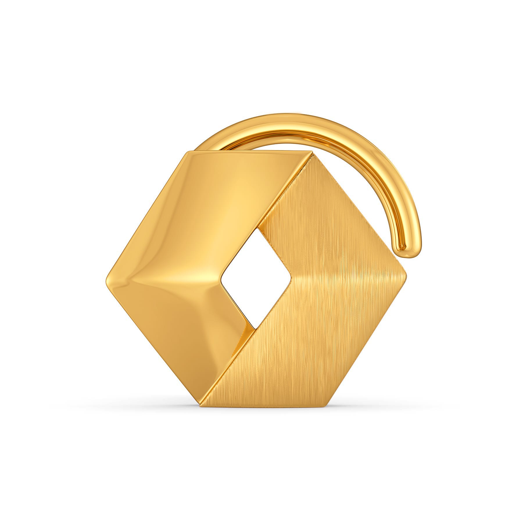 Happy Hexa Gold Nose Pins
