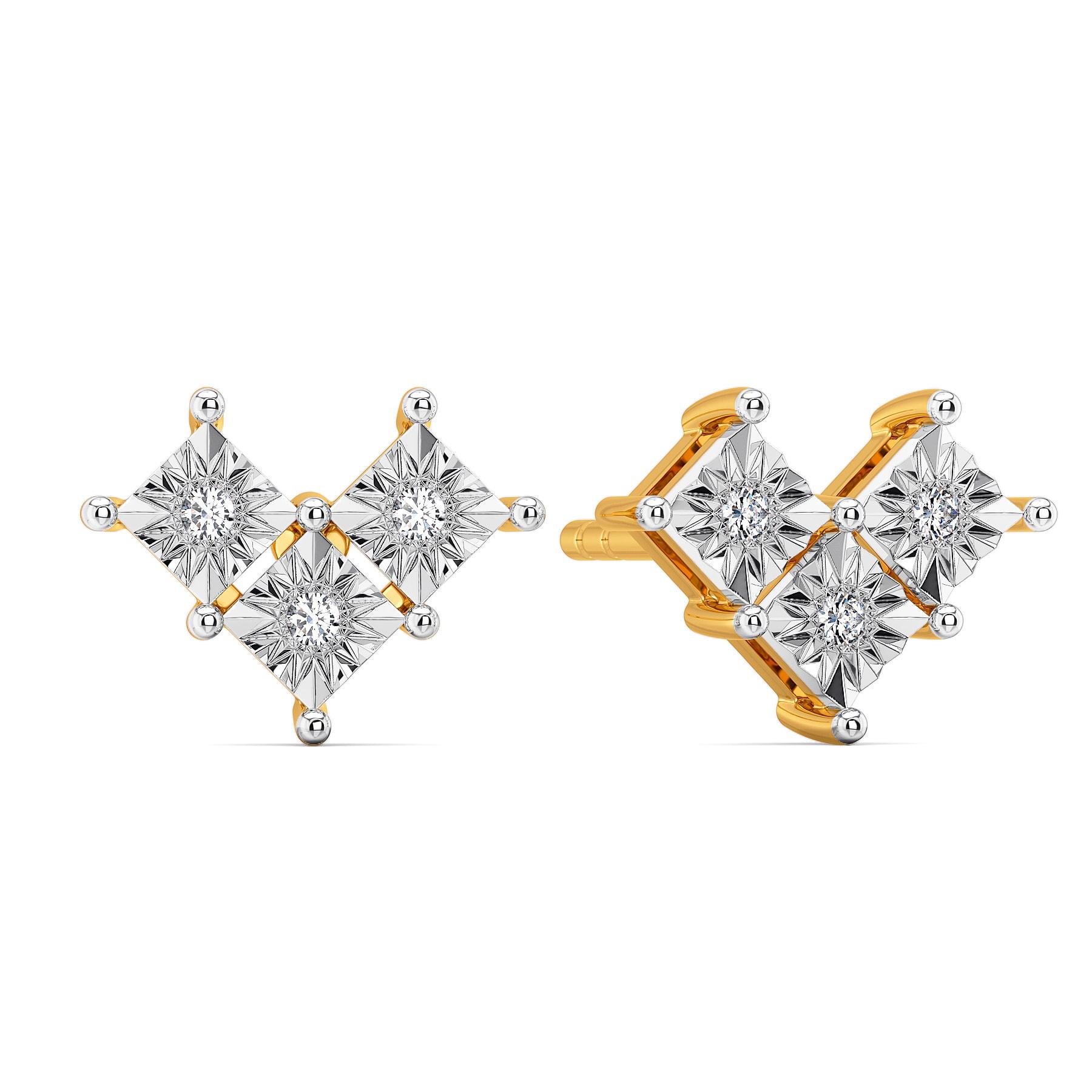 Rhomb N Razzle Diamond Earrings