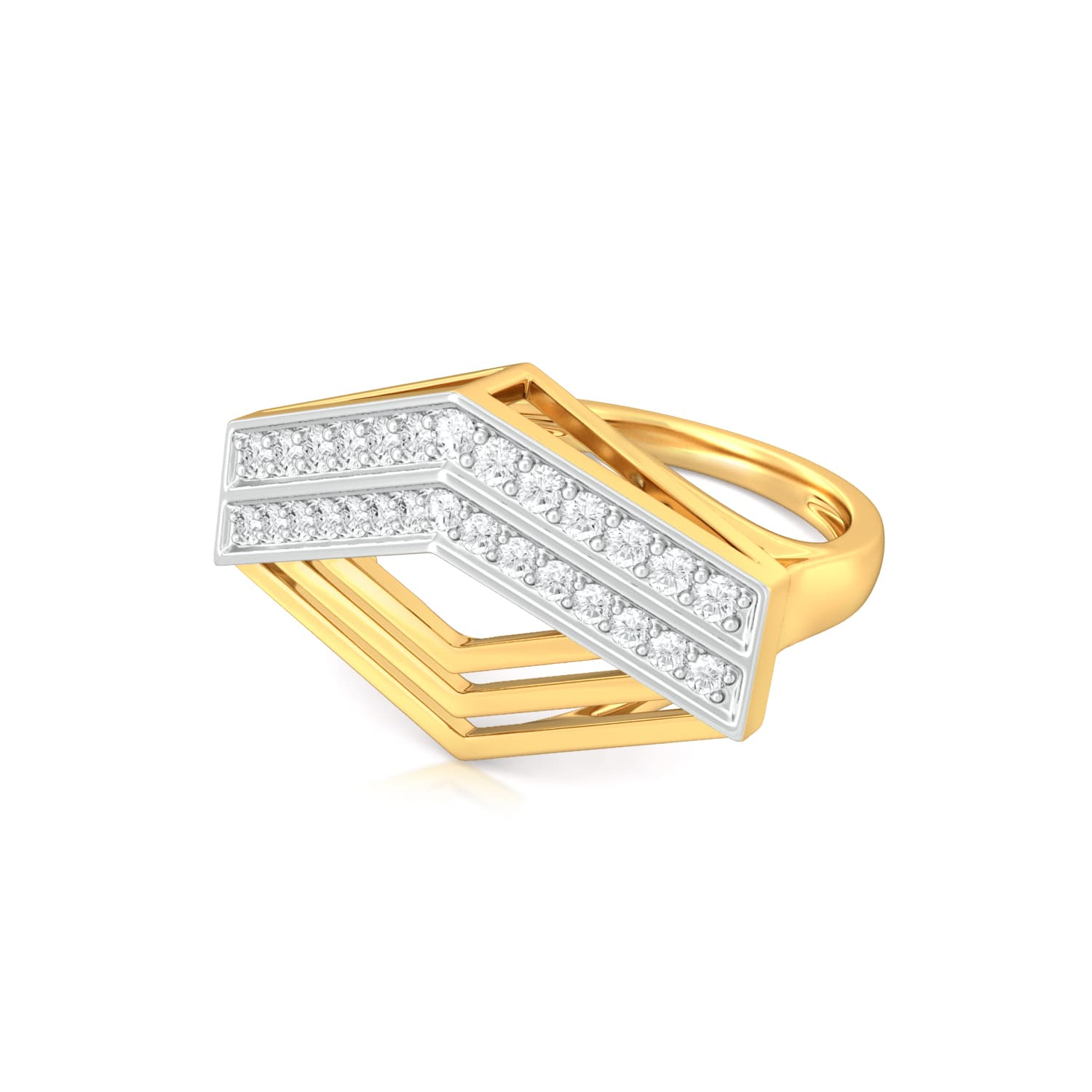 Criss-Cross Diamond Rings