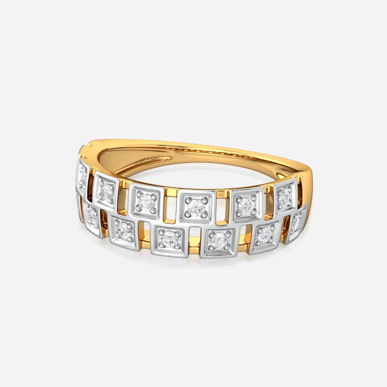 Squared Away Diamond Rings