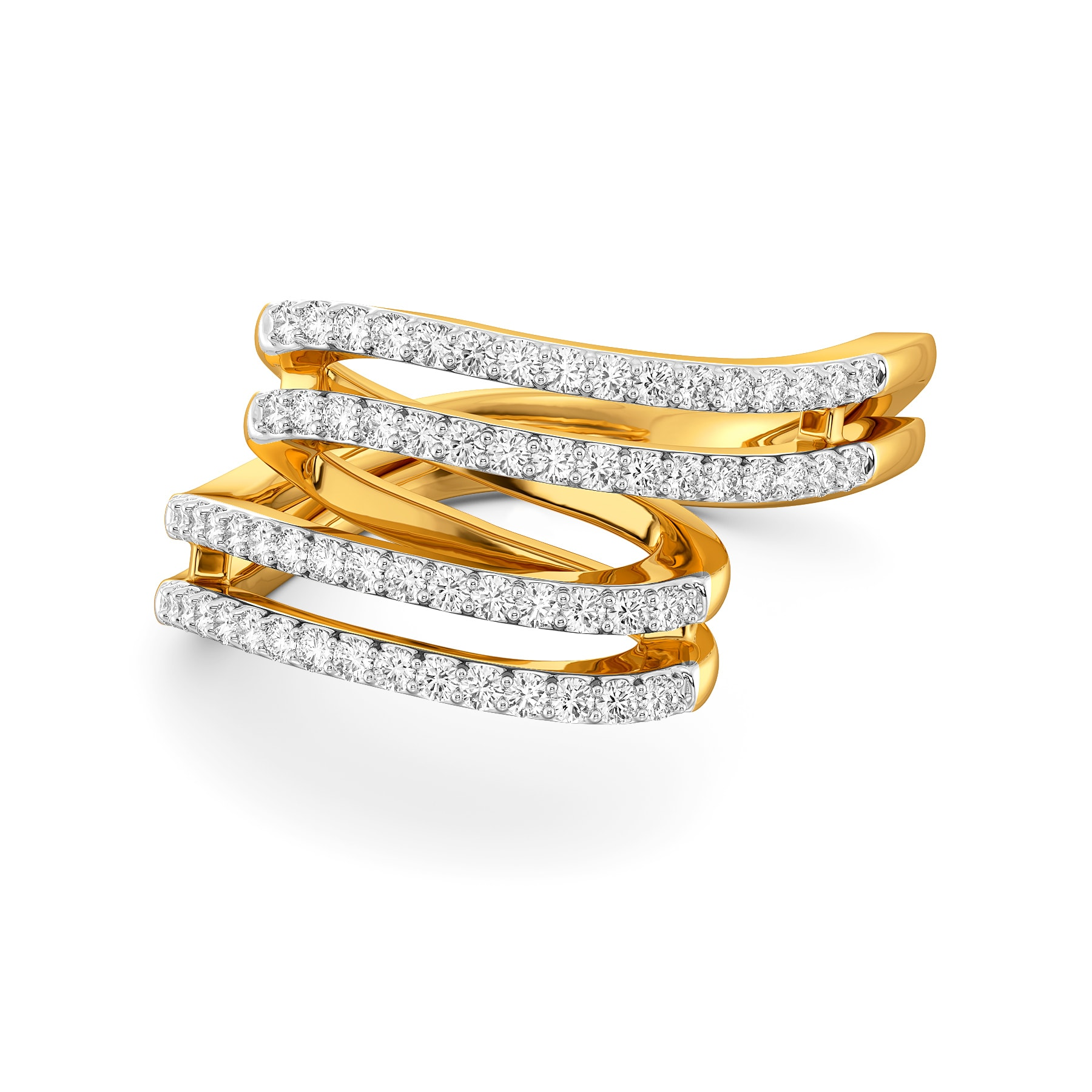 Confetti Twirls Diamond Rings