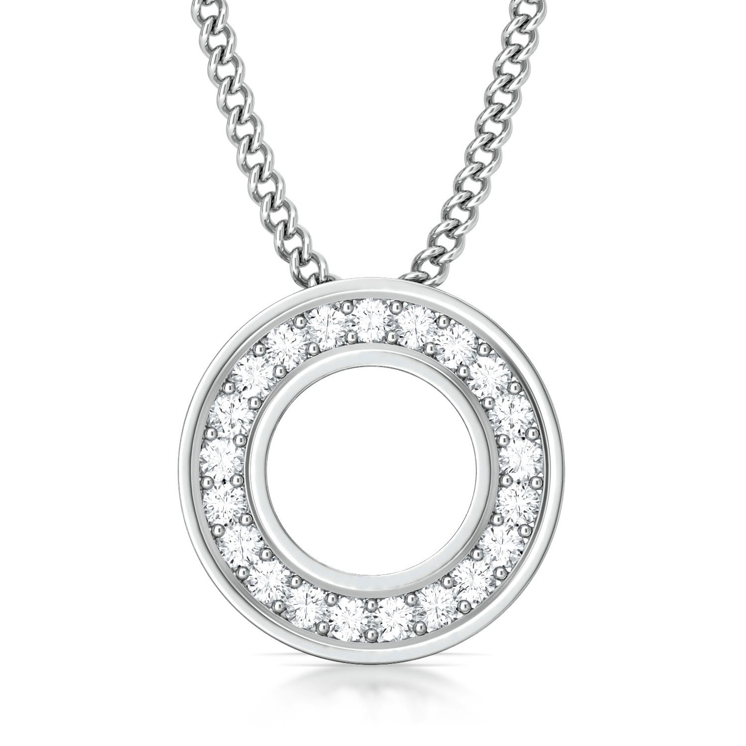 Fine Line Diamond Pendants