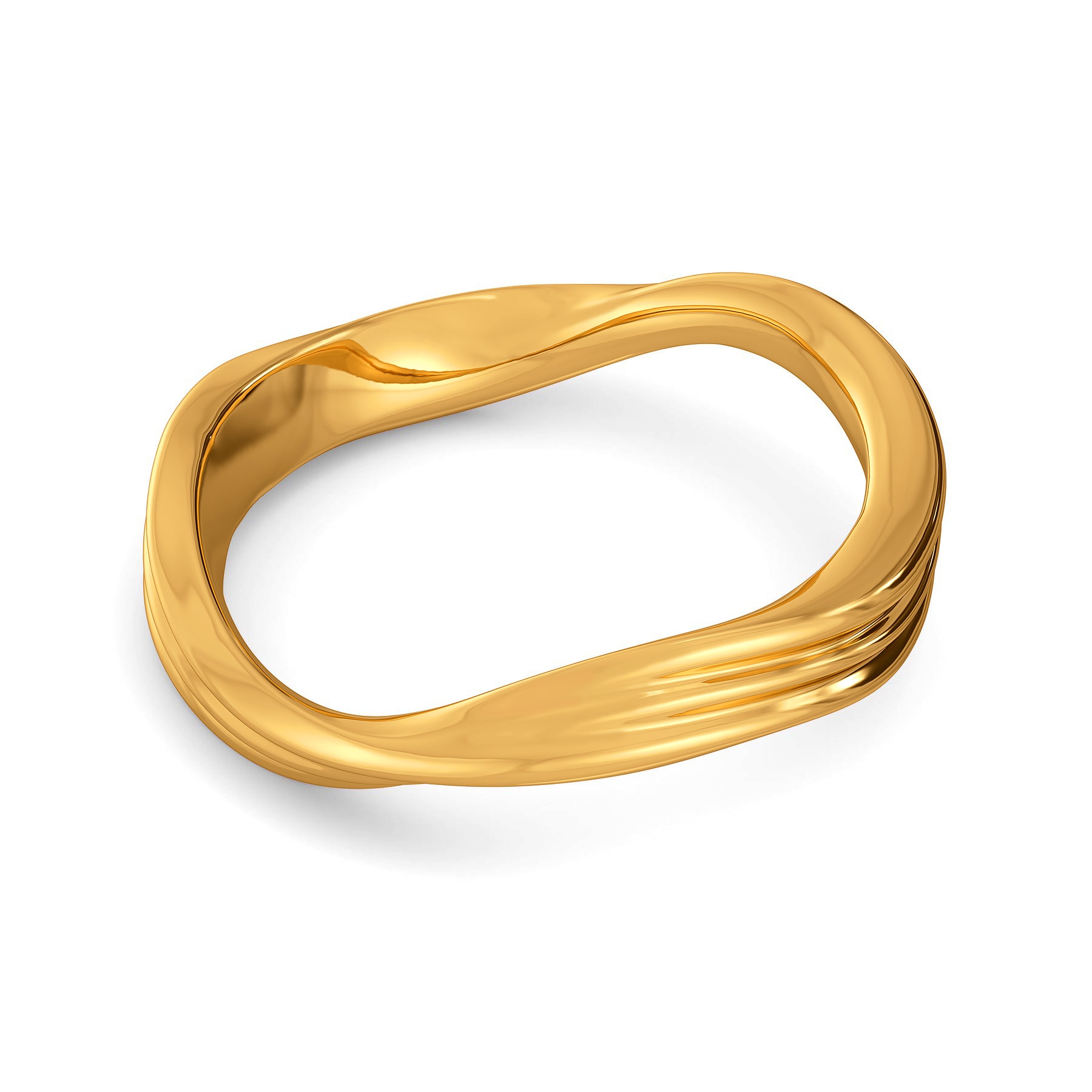 Dreamy Drapes Gold Rings