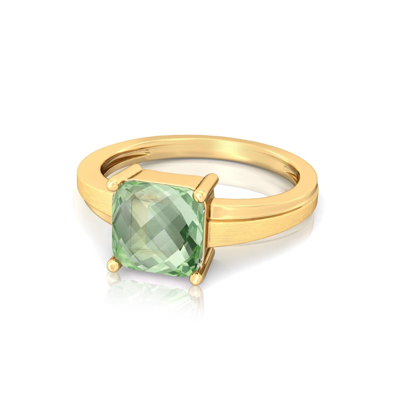 Spring Olive Gemstone Rings