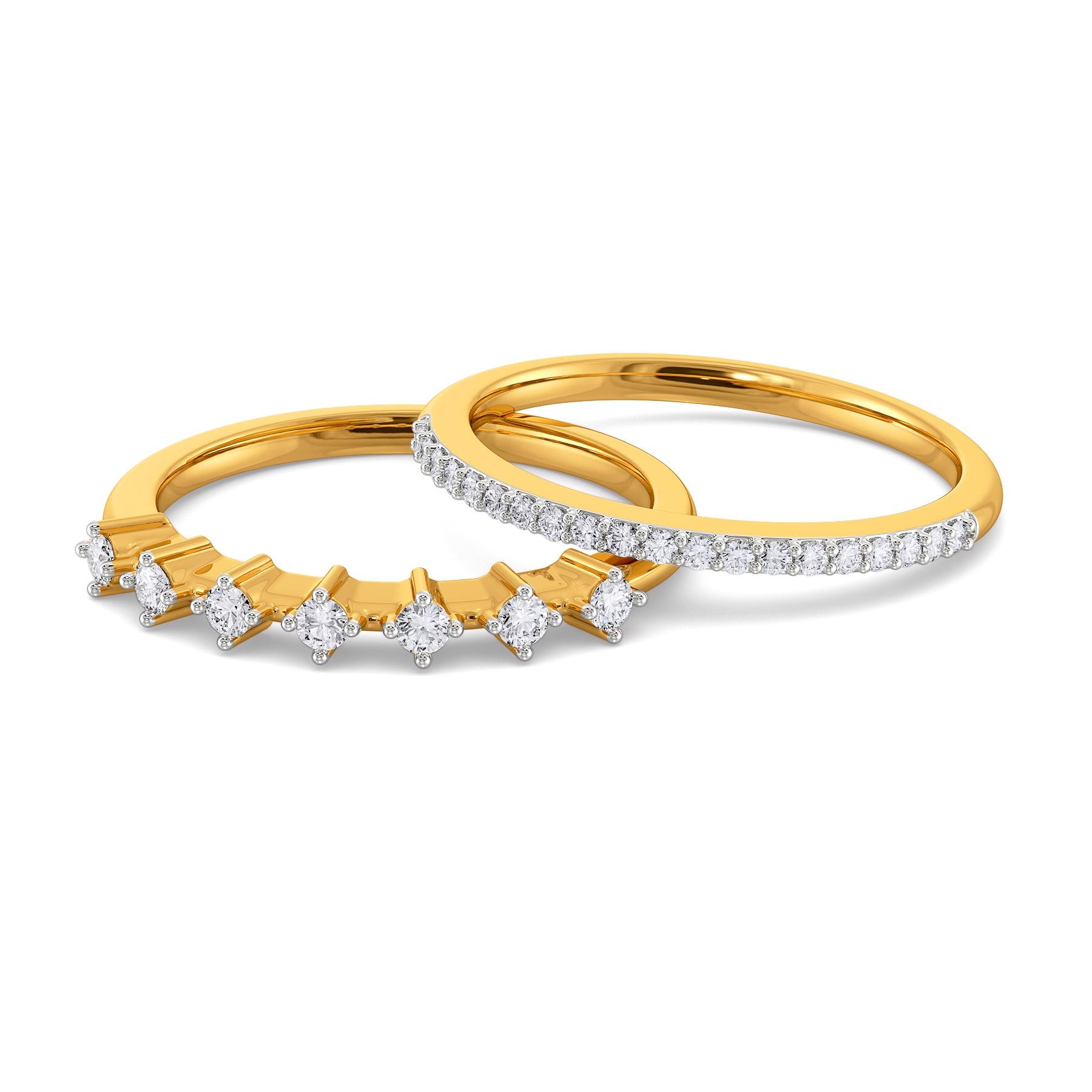 Stellar Flora Diamond Rings