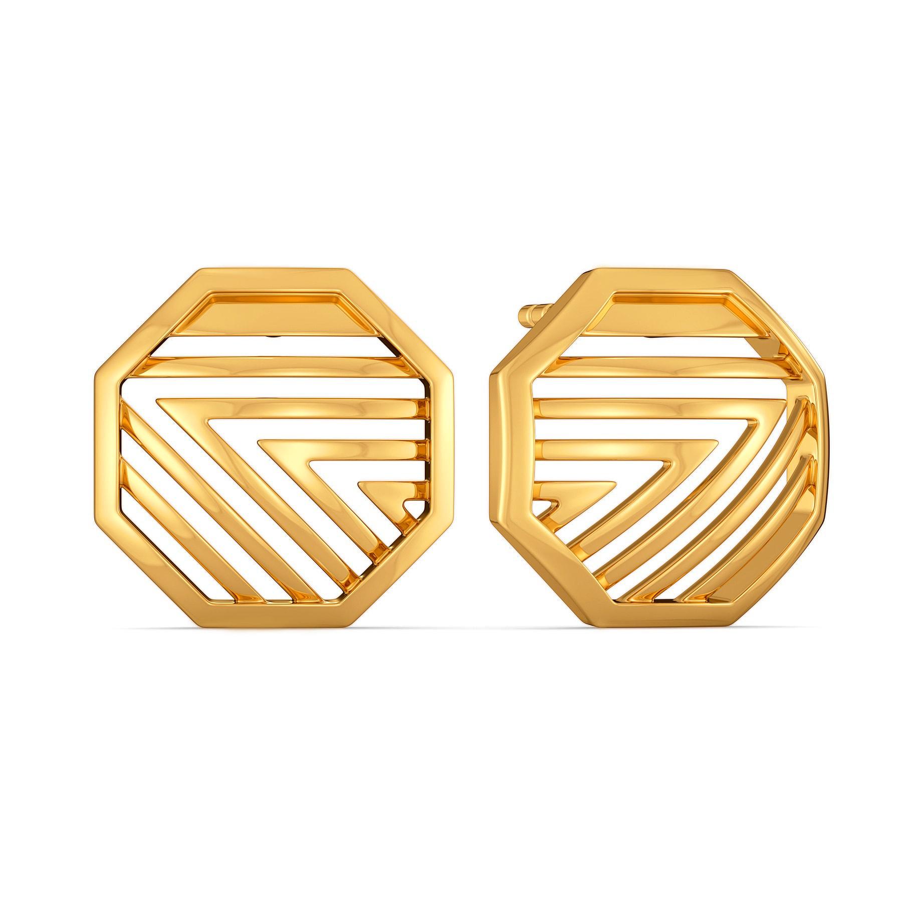 Parisian Parade Gold Earrings