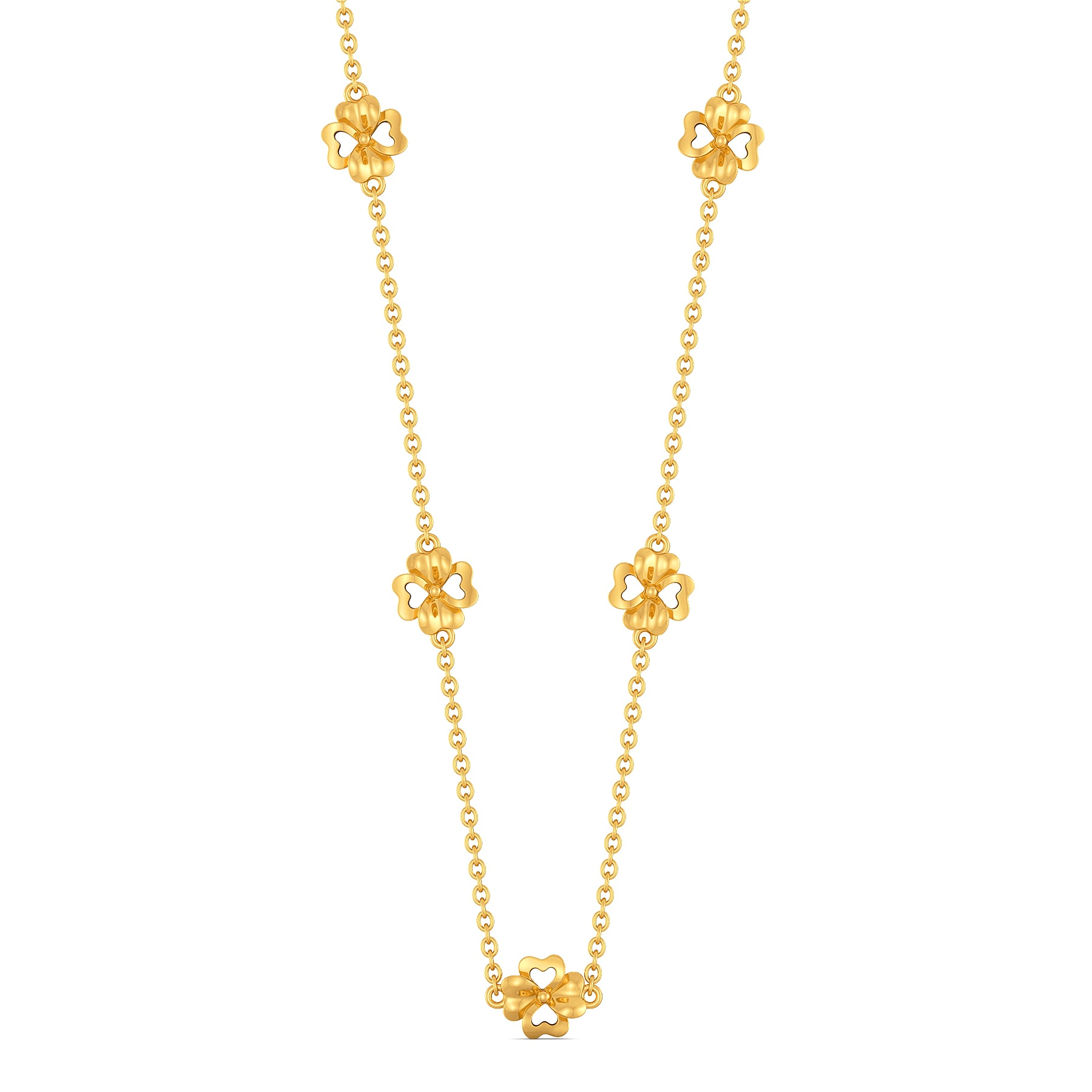 Florally Fabulous Gold Necklaces
